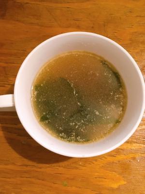 簡単春雨入りわかめスープ
