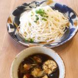 濃厚な味のつけ麺です♡茄子の煮浸し漬けそう麺