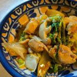 白菜と鶏のオイスターソース炒め