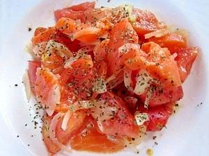 マリネ?サラダ?~スモークサーモンとトマトのサラダ
