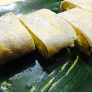 【ガサツ料理】とろ〜りポテトのそば粉クレープ包み