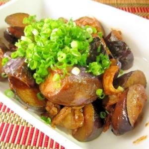 簡単☆豚バラ肉と茄子のコチュ味噌炒め