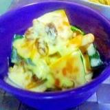 レンジで簡単カボチャサラダ