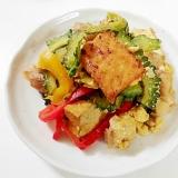 残った肉野菜炒めで ゴーヤチャンプルー風炒め物