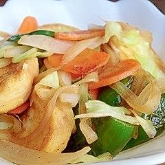 麸と野菜の炒め物