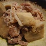 里芋と豚肉の簡単炒め