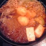 キムチ鍋の素とめんつゆで☆和風チゲ鍋