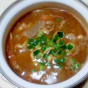 豚汁リメイク!中華味噌煮込み麺++