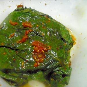 えごまの葉の醤油漬け