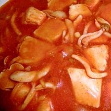 フライパンで!カジキのトマト煮♪