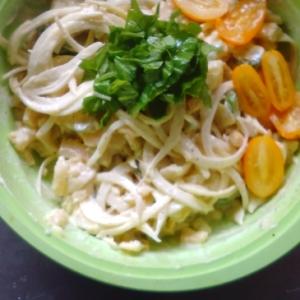おいしい黄色ゴーヤとポテトのサラダ