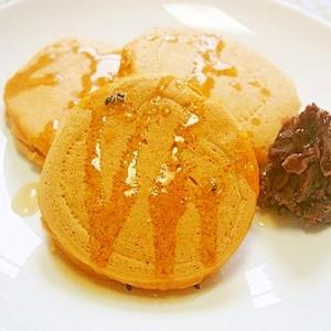 豆腐入り!米粉のきな粉ホットケーキ!