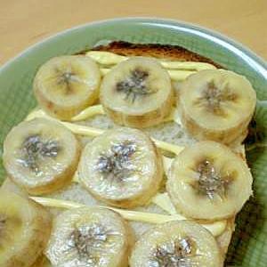 『バナナ&マヨ』のトースト♪