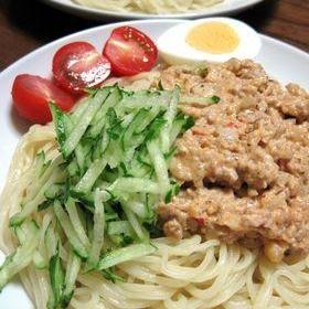 マヨゴマ風味♪簡単☆冷やしジャージャー麺