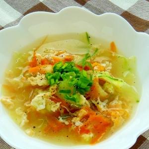 夏のなごり彩りスープ