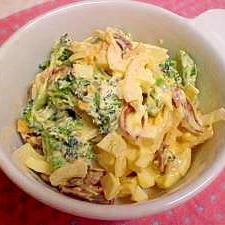 新玉ねぎたっぷり!ブロッコリーと卵のサラダ