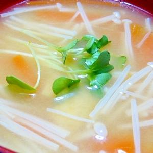 えのきとにんじんの味噌汁