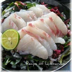 塩麹で旨みプラス! 白身魚の鯛の和風カルパッチョ