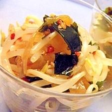 中華クラゲとモヤシの酢の物