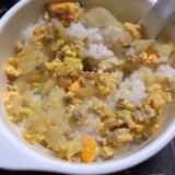 〜離乳食〜簡単朝食♡ひき肉と野菜の卵焼き♡