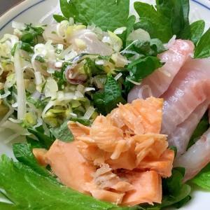 鯵鯛鮭のトリプル丼