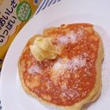 ラーマのバターの風味のせ大豆粉ホットケーキ