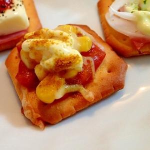 カレー&ピザ風味 コーンとチーズの焼クラッカー