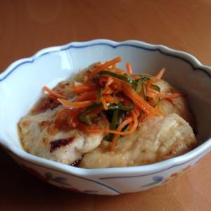 鶏胸肉のソテー*野菜ポン酢がけ
