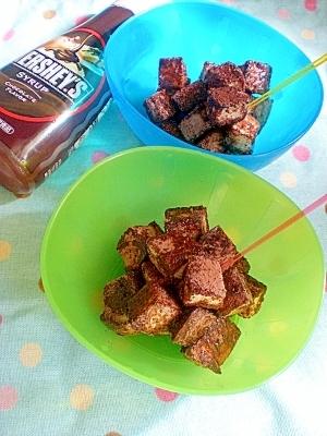 ハーシーチョコレートシロップで♪食パンチョコラスク