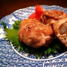 コロンとかわいい☆山芋と塩昆布の豚肉巻き