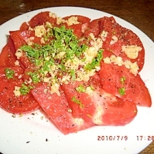 トマトのオリーブオイルがけ