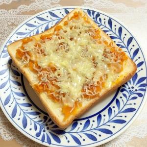 かぼちゃとちりめんじゃこ・チーズのトースト♪