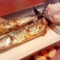 焼き秋刀魚♡大根おろし+α。