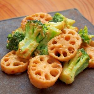 れんこんとブロッコリーの味噌マヨ焼き