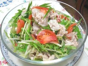 お野菜いっぱい豚シャブサラダ