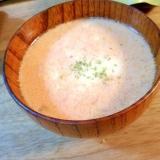 トマトジュースと牛乳で作るトマトスープ