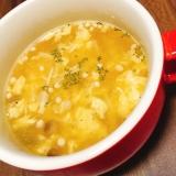 きのこたっぷり☆ふわふわ卵スープ