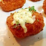 マジソル/マヨで クレス&チーズon海老カツ