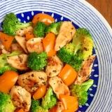 彩り野菜とハーブチキン