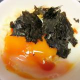レンジで半熟卵丼