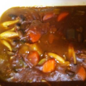 大根の葉入り挽き肉カレー
