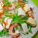 海老と豆腐大根の柚子風味サラダ