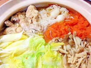 鶏肉とたっぷり野菜☆ヘルシー鍋