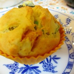 〔お手伝いレシピ〕かぼちゃと枝豆のチーズマフィン