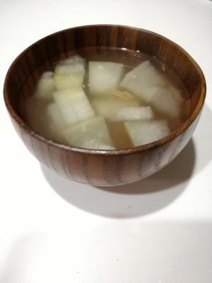 簡単♪夏野菜♪とうがんのとろみスープ