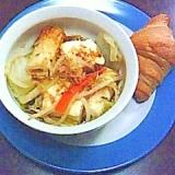 クロワッサンと湯豆腐サラダ