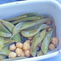 ひよこ豆とえんどうの酢漬け