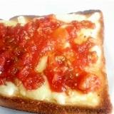 チーズトマトサーディントースト