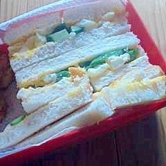 簡単に卵サンド