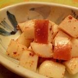 サッとおつまみ☆かまぼこの一味マヨネーズ炒め